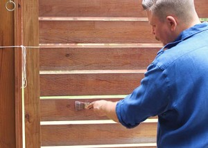 Trattamento, legno, applicazione impregnante, protezione, impermeabilizzante