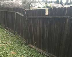 recinzione, legno, danno, deterioramento