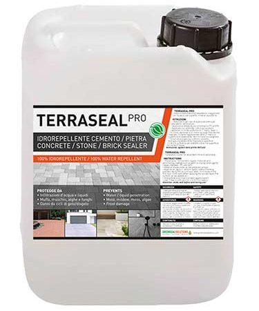 Terraseal Pro, impermeabilizzante, idrorepellente per pavimentazioni, dehors, pavè, terrazzi, balconate, pergolati, verande, gazebi, antimuffa, antisporco, fungicida