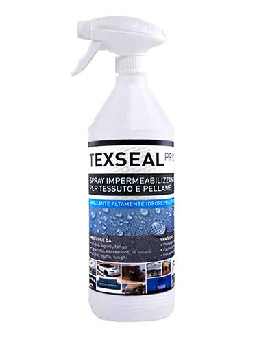 Texseal Pro, Spray, impermeabilizzante, idrorepellente, tessuto, pellame, anti sporco, anti muffa, impregnante tessile