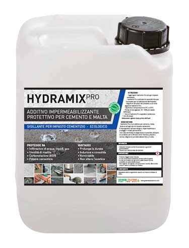 Hydramix Pro, additivo impermeabilizzante cemento